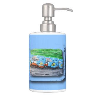 917 - Artwork Jean Louis Glineur Soap Dispenser & Toothbrush Holder