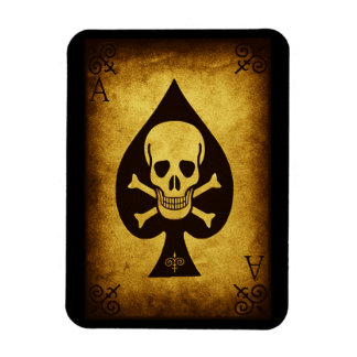 917 SKULL DEATH CARD POKER PLAYER GANGS GANGSTER D MAGNET