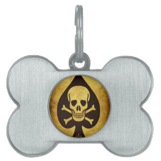 917 SKULL DEATH CARD POKER PLAYER GANGS GANGSTER D PET TAGS