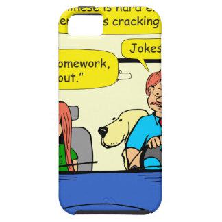 917 Teacher calls homework takeout cartoon iPhone SE/5/5s Case