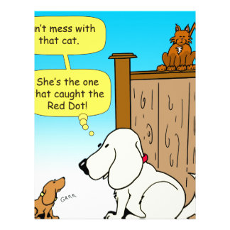 918 The cat that caught the red dot cartoon Letterhead