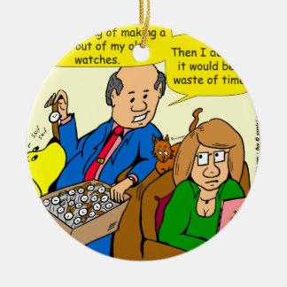 919 belt watch a dad joke cartoon ceramic ornament