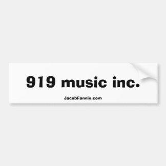 919 música inc., JacobFannin.com Pegatina Para Auto