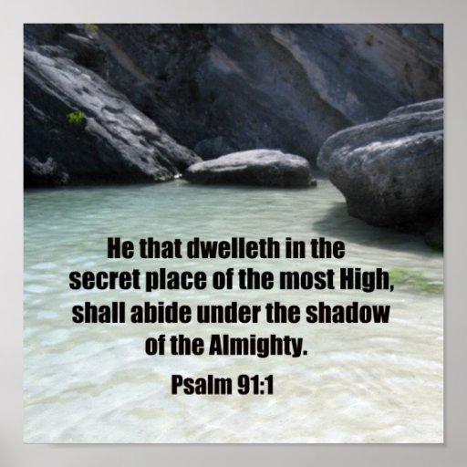 91:1 del salmo póster