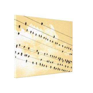 91 (1) pájaros impresión en lienzo