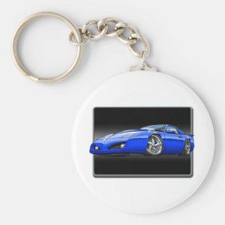 91_92_Firebird_Blue Basic Round Button Keychain