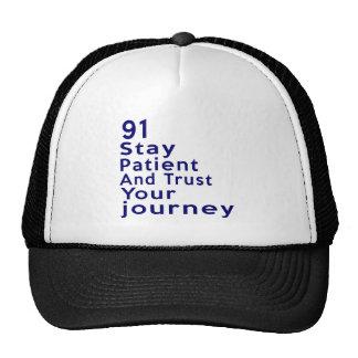 91 American Legend Birthday Designs Trucker Hat