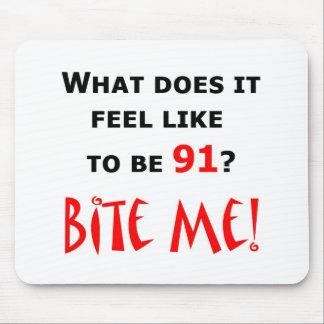 91 Bite Me! Mouse Pad