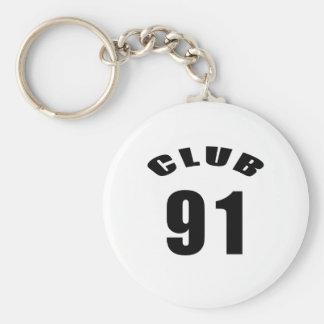 91 Club Birthday Designs Keychain