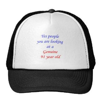 91  Genuine 91 Year Old Trucker Hat