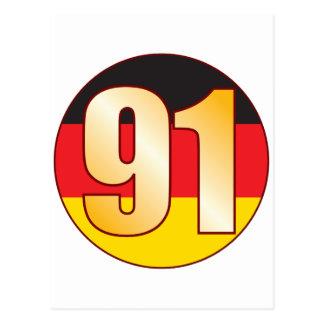 91 GERMANY Gold Postcard