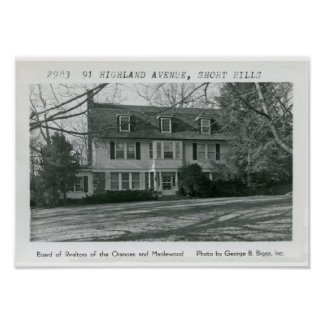 91 Highland Avenue Short Hills NJ Poster