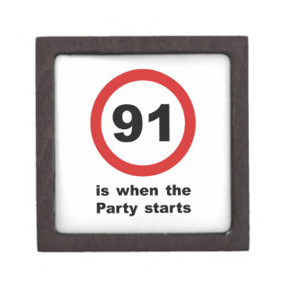 91 is when the Party Starts Keepsake Box