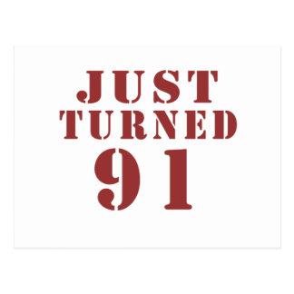 91 Just Turned Birthday Postcard