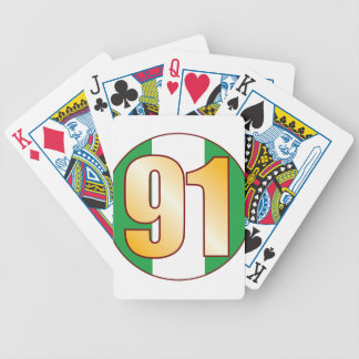 91 NIGERIA Gold Bicycle Playing Cards