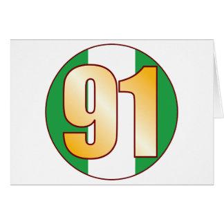 91 NIGERIA Gold Card