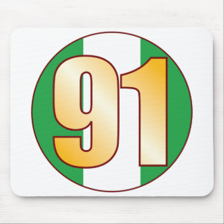 91 NIGERIA Gold Mouse Pad