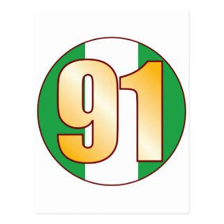 91 NIGERIA Gold Postcard