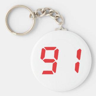 91 noventa y uno números digitales del despertador llaveros