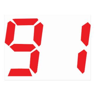 91 noventa y uno números digitales del despertador postal