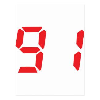 91 noventa y uno números digitales del despertador postales