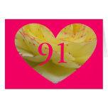 91.o Cumpleaños Tarjetas
