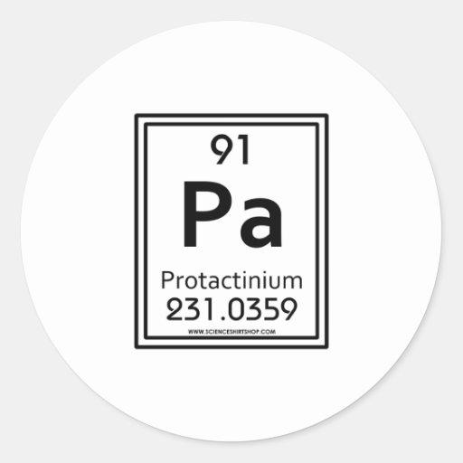 91 Protactinium Stickers