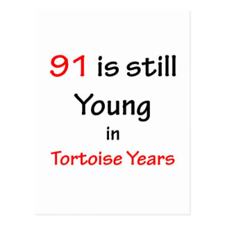 91 Tortoise Years Postcard