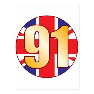 91 UK Gold Postcard