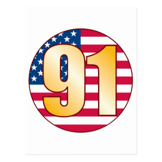 91 USA Gold Postcard