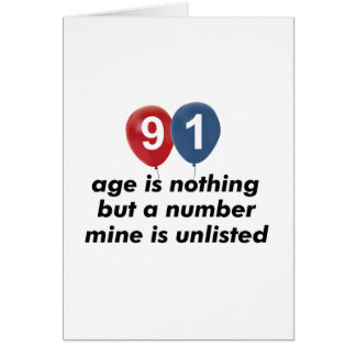 91 year old aging designs card