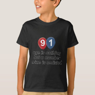 91 year old aging designs T-Shirt