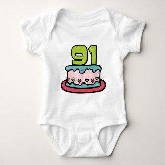 91 Year Old Birthday Cake Tee Shirt