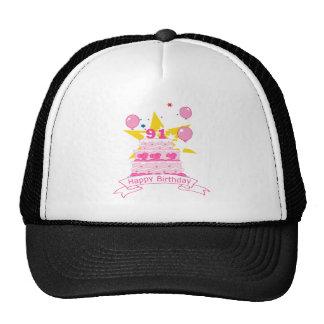 91 Year Old Birthday Cake Trucker Hat