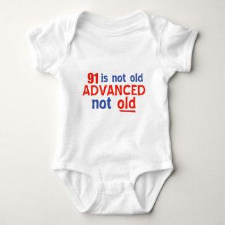 91 year old birthday designs tee shirt