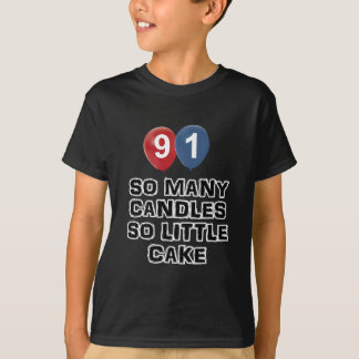 91 year old candle designs T-Shirt