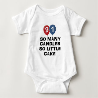 91 year old candle designs t shirt