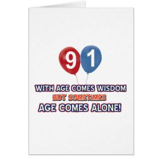 91 year old wisdom birthday designs cards