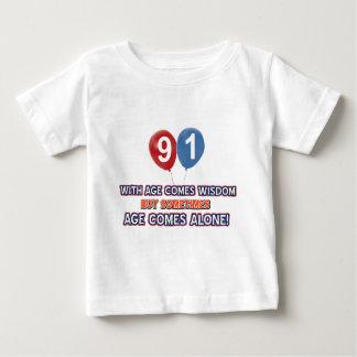 91 year old wisdom birthday designs t shirt