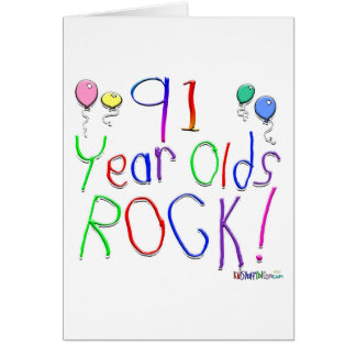 91 Year Olds Rock! Greeting Card