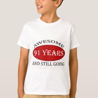 91 years old birthday designs T-Shirt