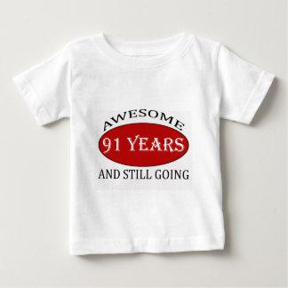91 years old birthday designs t shirt