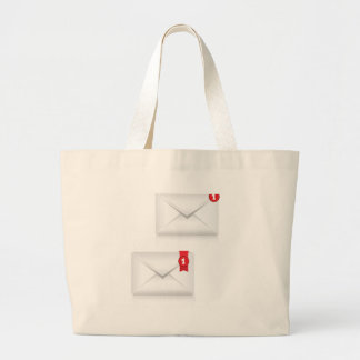 91Mailbox Alert Icon_rasterized Large Tote Bag