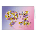 91st birthday card with flowery letters