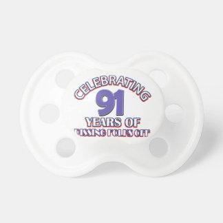 91ST birthday designs Pacifier