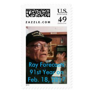 91st Birthday Forecast Large Postage Stamp