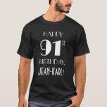 [ Thumbnail: 91st Birthday Party - Art Deco Inspired Look Shirt ]