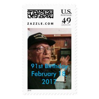 91st Birthday Weather Celebration stamp