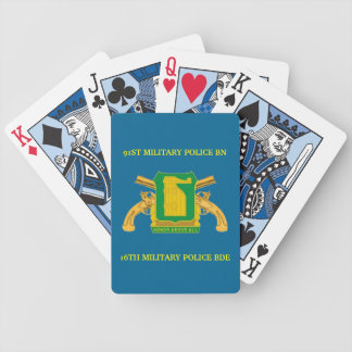 91ST MILITARY POLICE BATTALION PLAYING CARDS