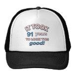 91st year birthday designs hats